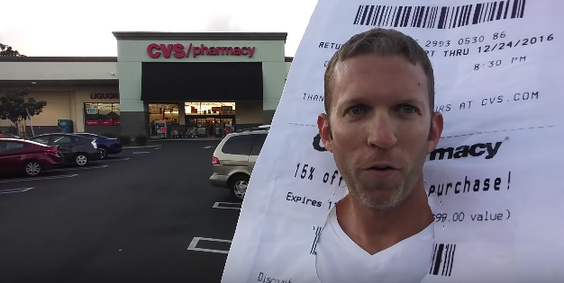 CVS Receipt Costume Goes To CVS